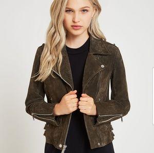 Suede BCBG Moto Jacket <authentic leather >